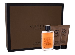 Zestaw Gucci Guilty Absolute Pour Homme (M) edp 50ml + balsam po goleniu 50ml + żel pod prysznic 50ml
