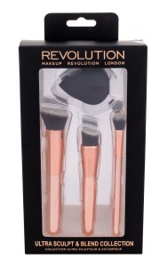 Makeup Revolution London Brushes Ultra Sculpt & Blend Collection Pędzle Do Makijażu + Gąbeczka