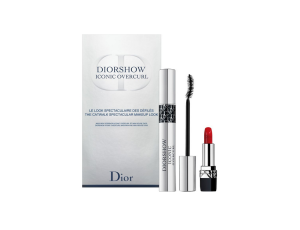 Christian Dior Diorshow Iconic Overcurl Tusz do rzęs 10ml - 090 Over Black + pomadka Rouge Dior