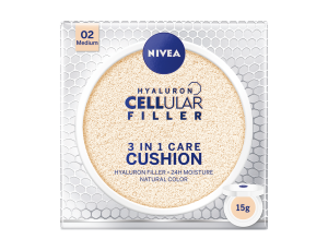 Nivea Hyaluron CELLular Filler 3in1 Care Cushion SPF15 Podkład 15g 02 Medium