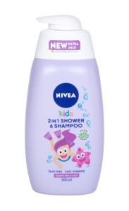 Nivea Kids 2in1 Shower & Shampoo K Żel pod prysznic 500ml