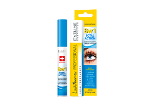 EVELINE Lash Therapy Professional Total Action 8w1 Skoncentrowane Serum Do Rzęs 10ml